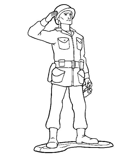 easy military soldier coloring pages sheet printable