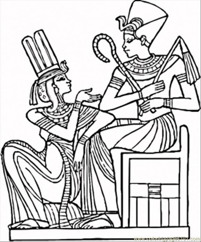 egyptian pharaohs coloring page free egypt coloring pages