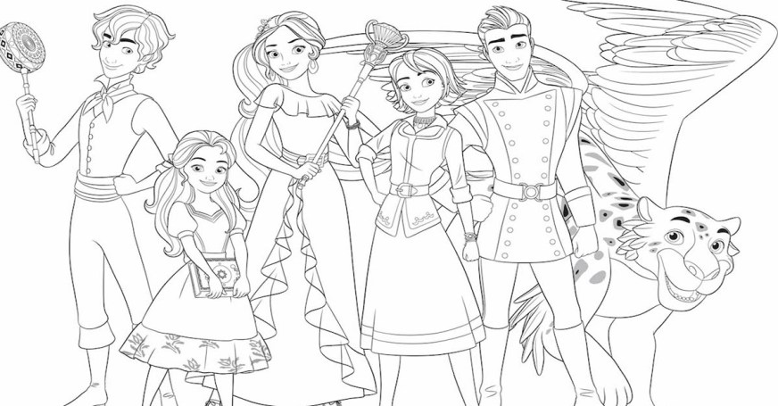 elena of avalor coloring page activity disney family