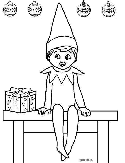 elf on the shelf coloring page elegant free printable elf