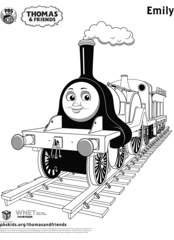 emily from thomas friends coloring page train coloring