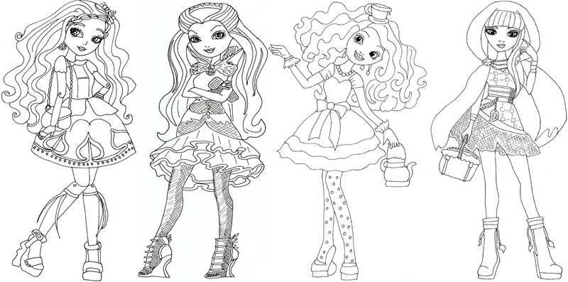 ever after high coloring sheets for kids coloring pages