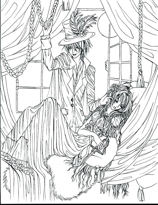 extraordinary vampire knight coloring pages dopravnisystem