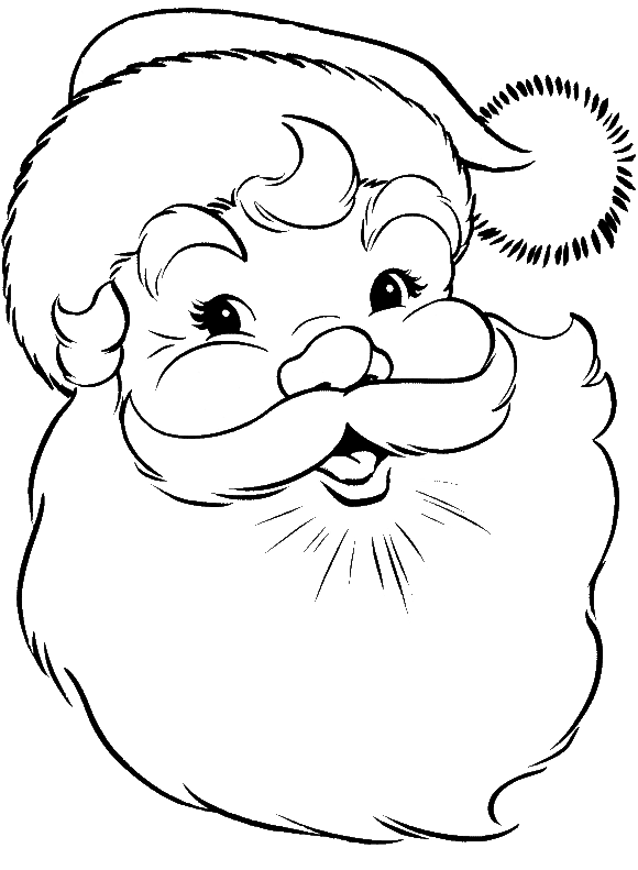 face of santa claus coloring pages free christmas coloring