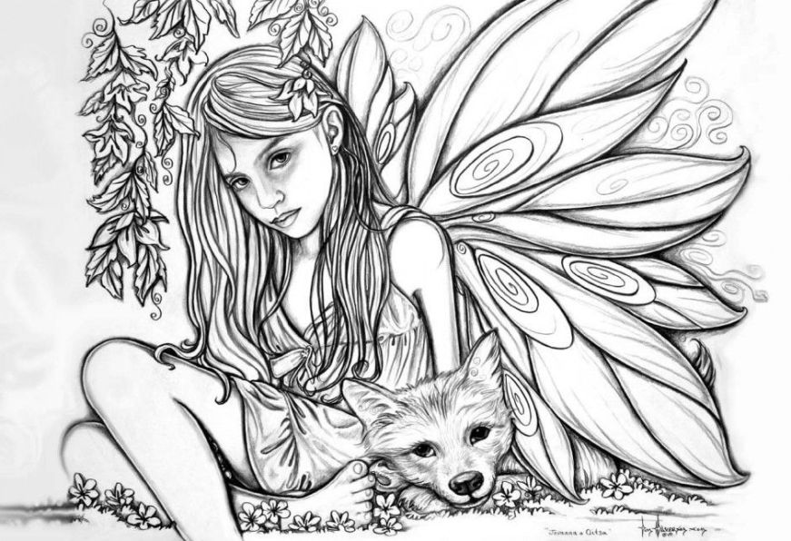 fairy coloring pages for adults dark fairy coloring