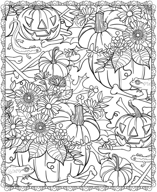 fall coloring pages for adults printable at getdrawings