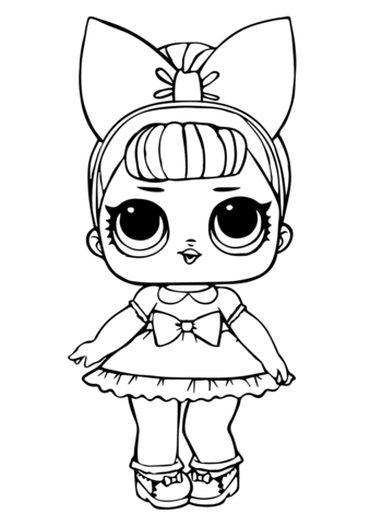 fancy glitter lol surprise doll coloring page cute