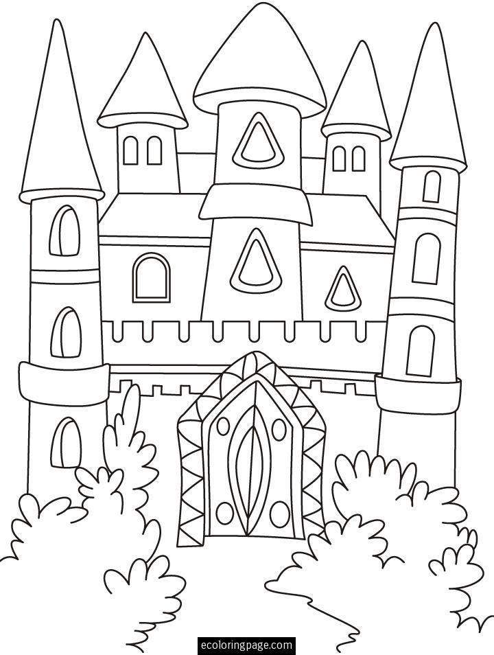 fantasy castle coloring page printable castle coloring