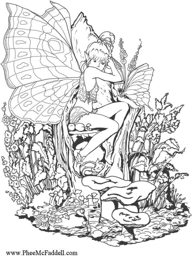 fantasy coloring pages for adults fantasy pages for adult