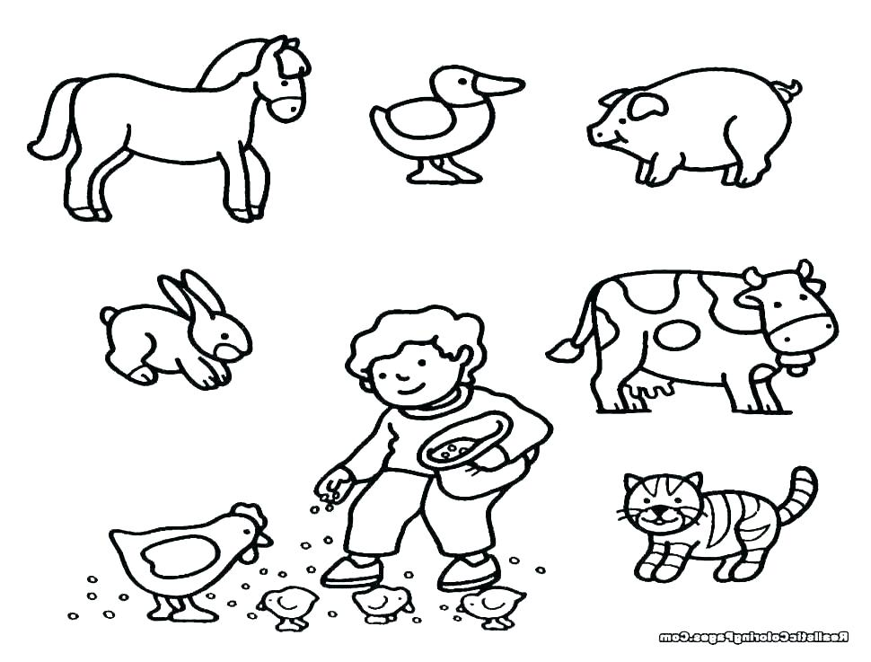 Farm Animals Coloring Pages Gallery - Whitesbelfast