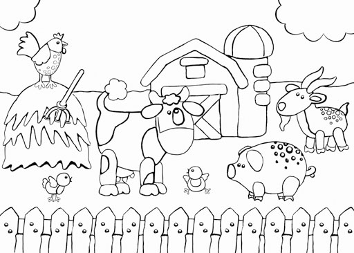 farm animals talking coloring page printable coloring pages