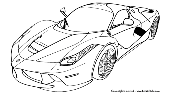 ferrari 458 coloring pages at getdrawings free for