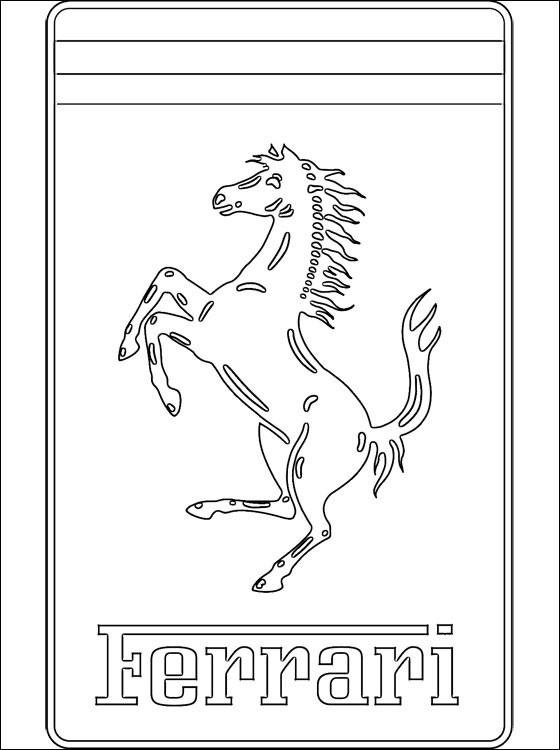 ferrari logo coloring page coloring pages