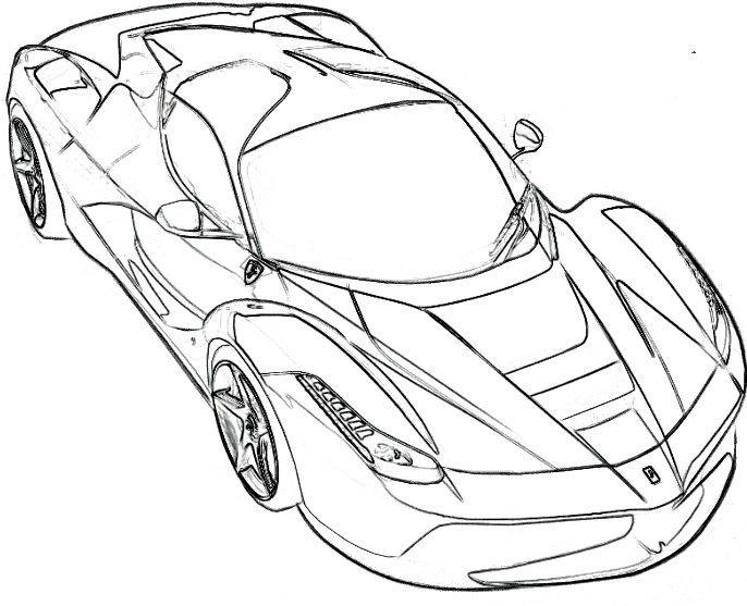 ferrari spider coloring page ferrari car coloring pages
