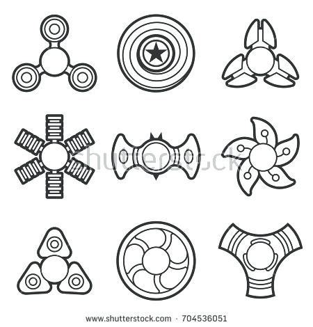 fidget spinner coloring pages at getdrawings free for