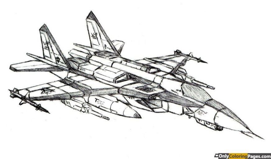 fighter jet coloring pages airplane coloring pages