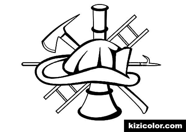 fire fighter equipment maltese cross kizi free coloring
