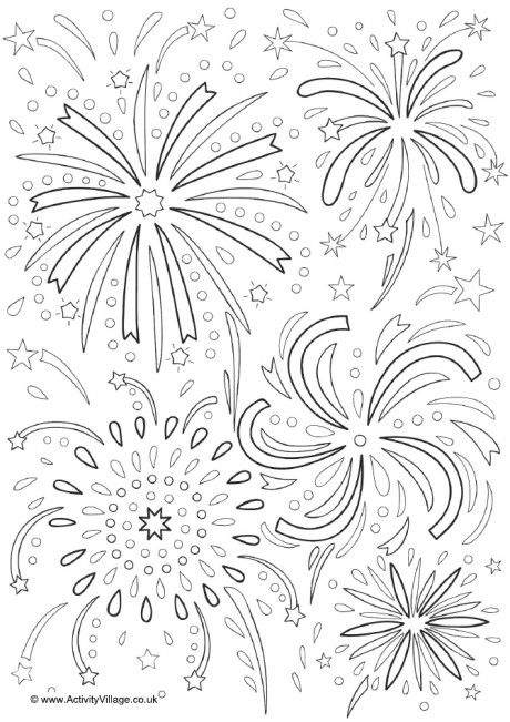 fireworks colouring page 2 firework colors how to draw