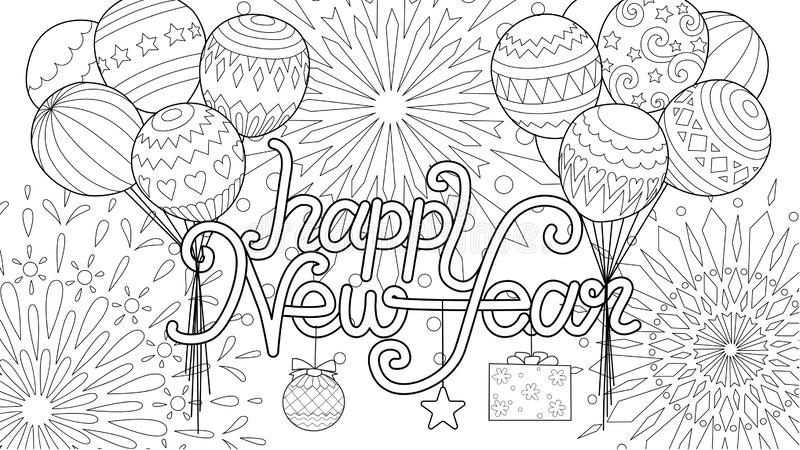 fireworks colouring page stock vector illustration of fire