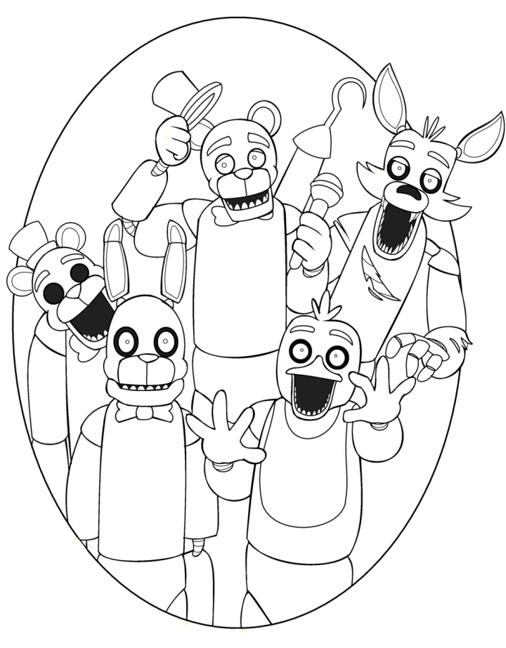 five nights at freddys coloring pages golden freddy