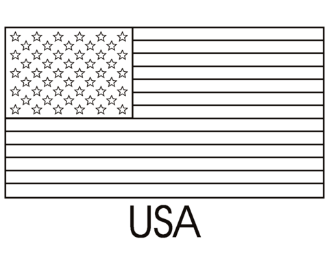 flag of the united states of america coloring page free