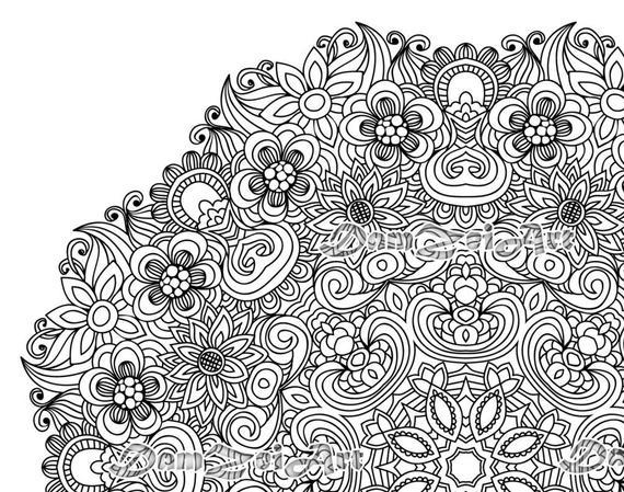 flower mandala coloring page printable pdf blank mandala designs to print and color adult coloring coloring sheet