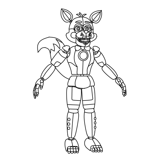 fnaf coloring pages funtime foxy