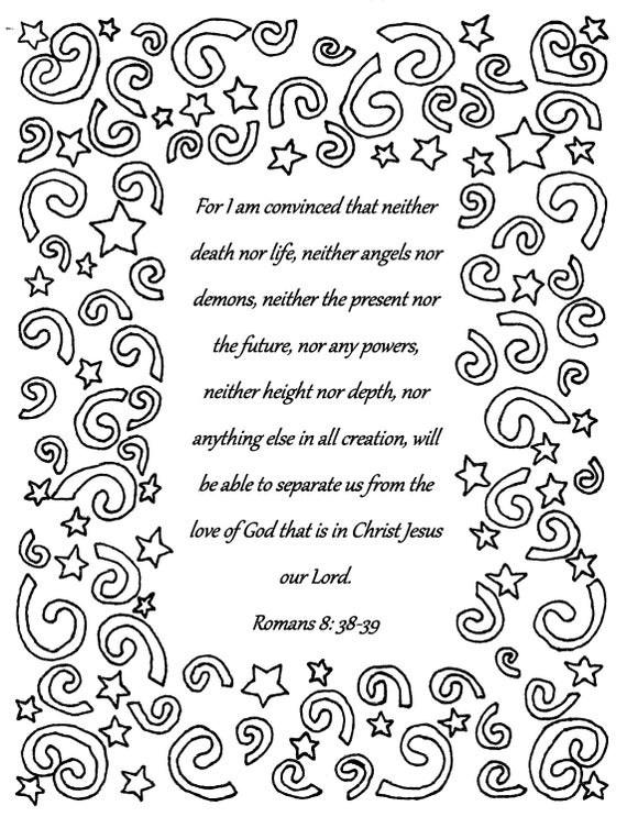 for i am convincedromans 838 39 bible verse coloring page download