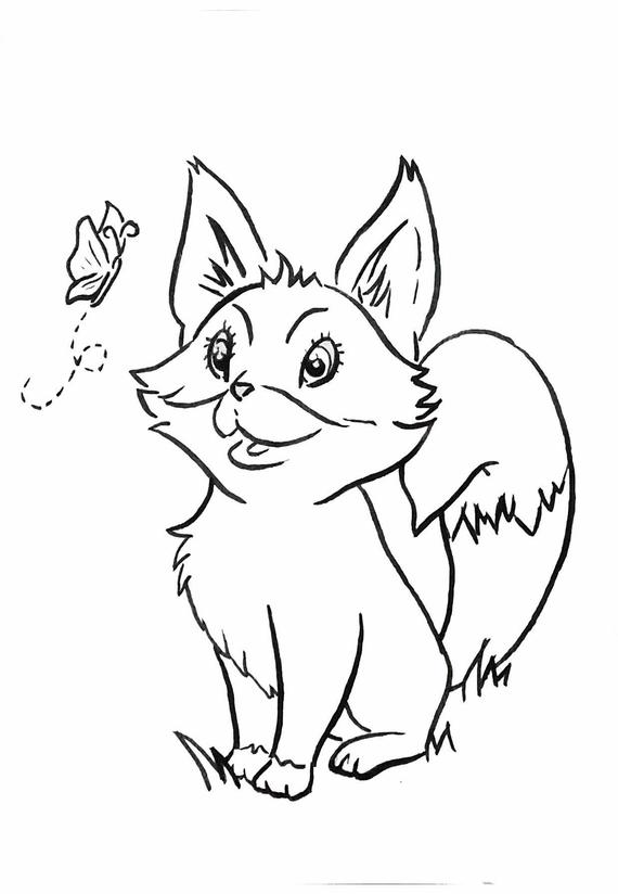 forest ba animals coloring pages