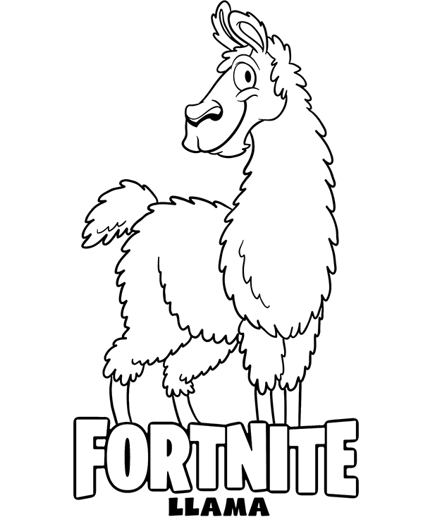 fortnite battle royale llama coloring page
