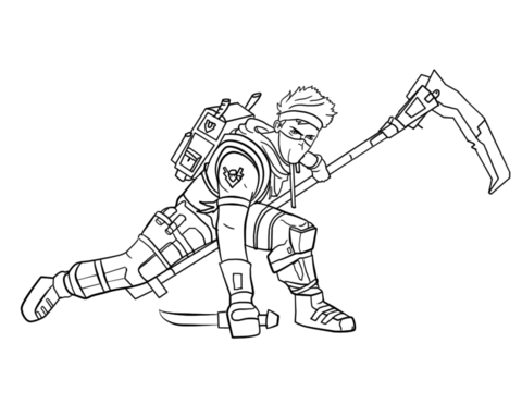 fortnite ninja coloring page free printable coloring pages