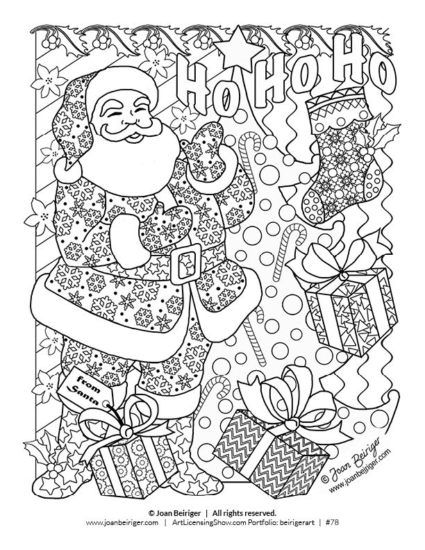 free 92 page holiday coloring book kerst knutselen