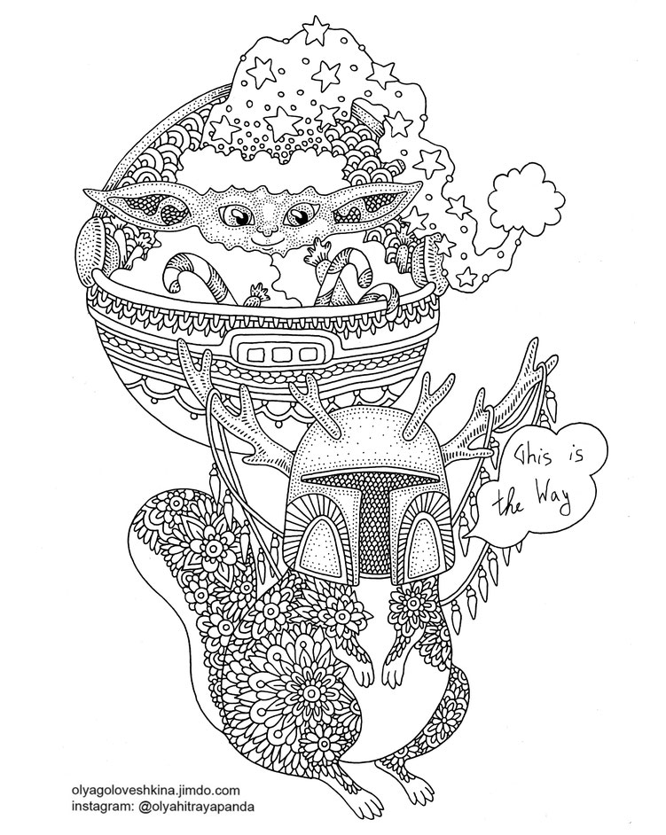 free adult coloring pages illustrator olga goloveshkina