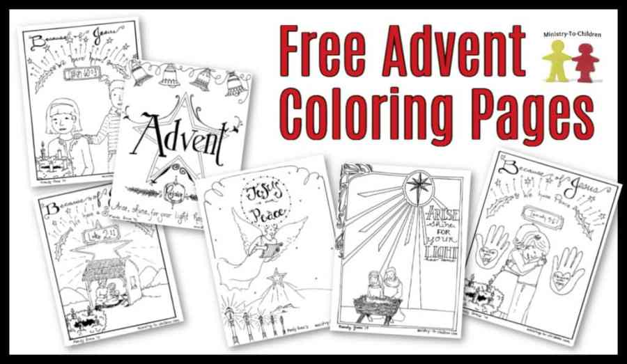 free advent coloring pages for kids christmas printables
