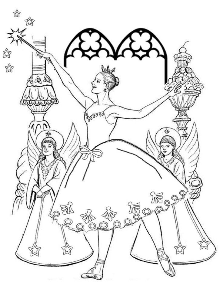 free ballerina nutcracker coloring page download free clip