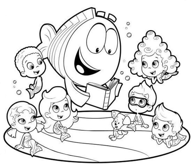 free bubble guppies coloring pages mimarathi