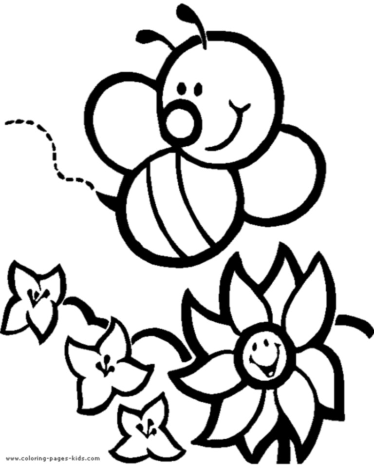 free cartoon bee coloring page download free clip art free