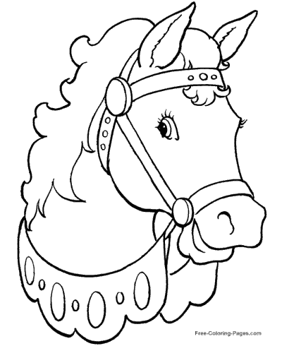 free color page horse coloring pages sheets and pictures