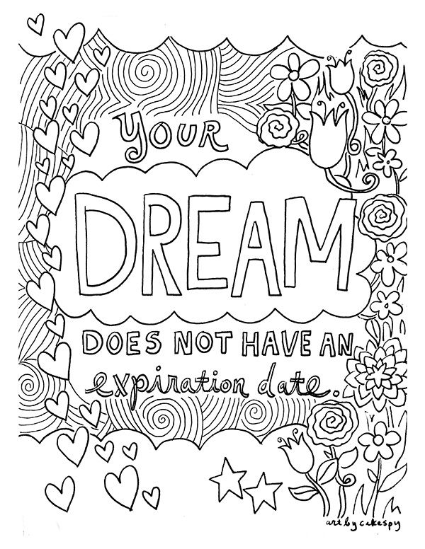 free coloring book pages inspirational quotes coloring