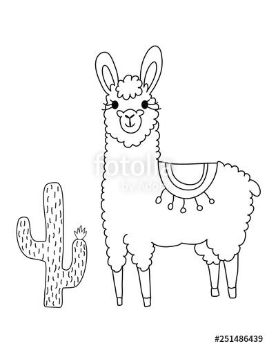 free coloring page llama pusat hobi