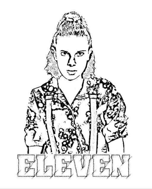 free coloring page of eleven from strangerthings3
