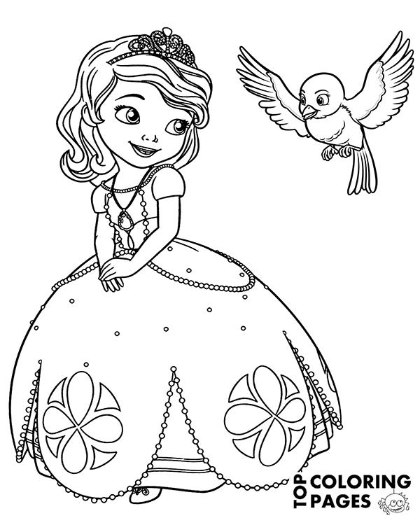 free coloring page princess sofia