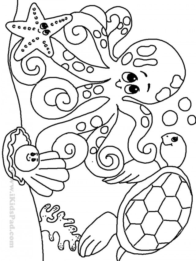 free coloring page sea creatures coloring pages clip art