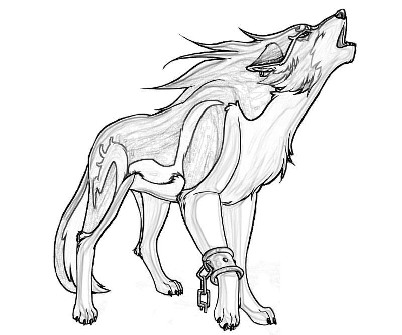 free coloring page wolf pusat hobi