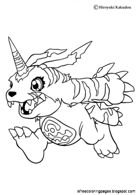 free coloring pages digimon coloring pages