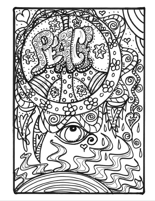 free coloring pages for adults 8 funky pictures from hippie
