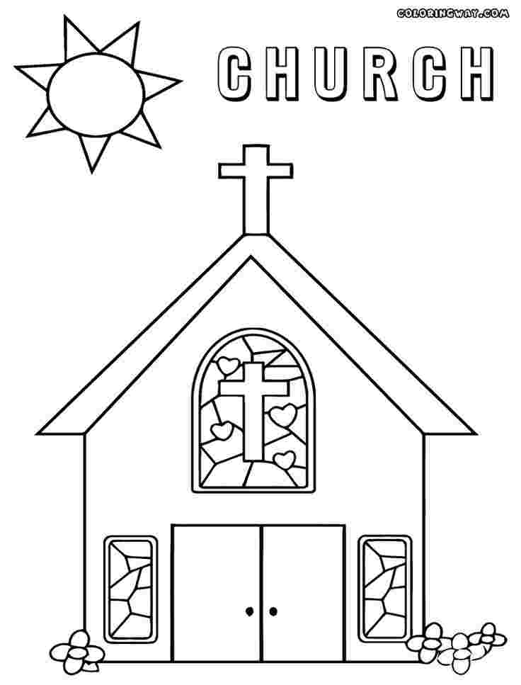 free coloring pages for church church coloring pages