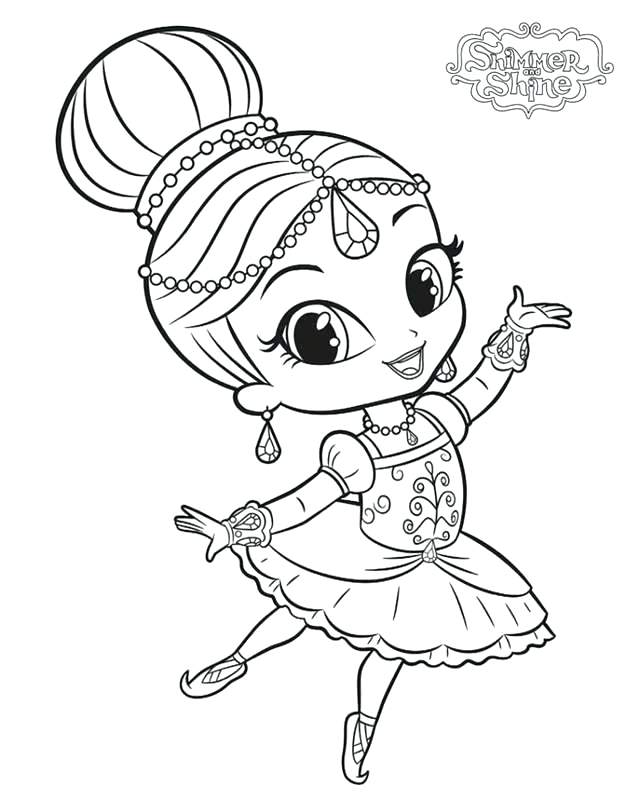 free coloring pages for shimmer and shine pusat hobi