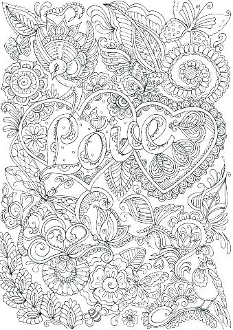 free coloring pages for stress relief pusat hobi