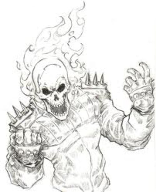 free coloring pages free ghost rider coloring pages for kids